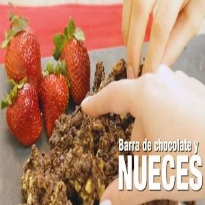 Receta en olla arrocera electrica de barra de chocolate y nueces